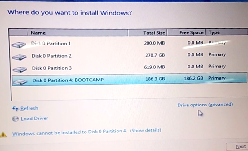 Install windows on Macbook using Bootcamp