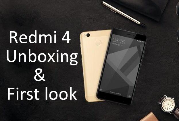 Redmi 4 Unboxing